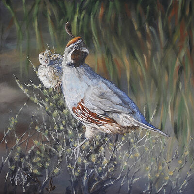Marcia Geiger, 'Two In The Bush', 2018