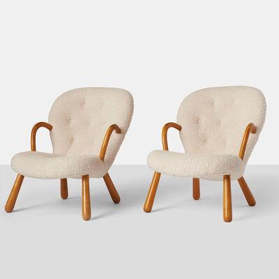 """Philip Arctander, 'Pair of Philip Arctander """"Clam"""" Chairs'"""
