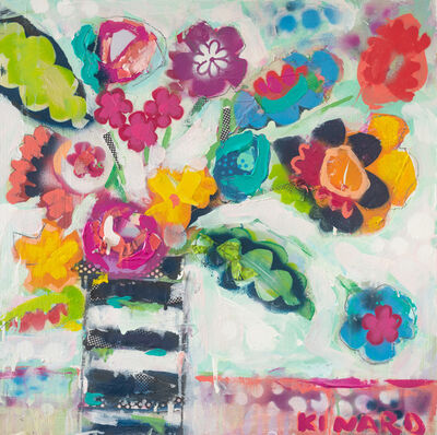 Christy Kinard, 'Stripes and Butterfly Flowers', 2019