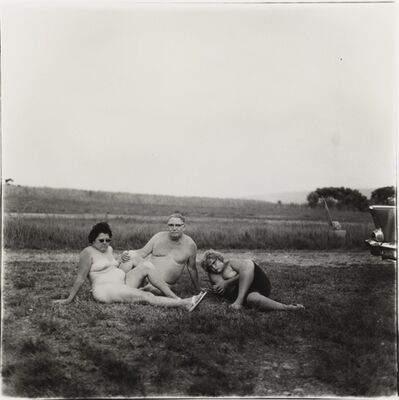 Diane Arbus, 'A Family and Their Car in a Nudist Camp in Pennsylvania,', 1965