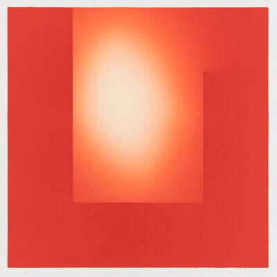 Brian Eno, 'Helica Cadmium Red (Heads)', 2018