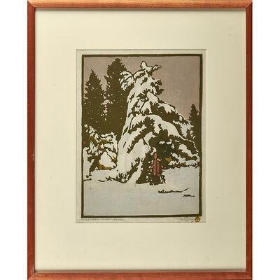 William S. Rice, 'Snow Laden Cedar - Sierra, California', ca. 1916