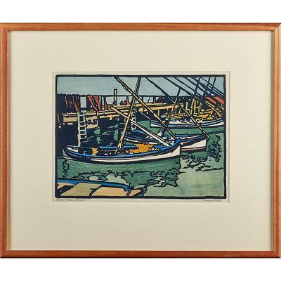 """William S. Rice, '""""Fisherman'S Wharf #1,"""" California', ca. 1918"""