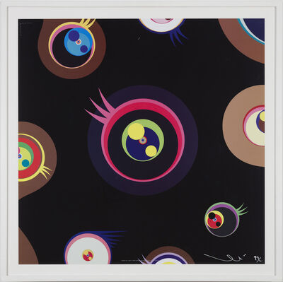Takashi Murakami, 'Jellyfish Eyes - Black 1', 2011