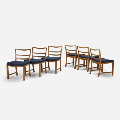 Edward Wormley, 'dining chairs model 4594, set of six', 1945