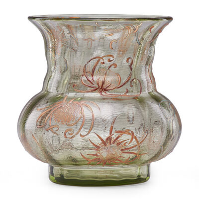 Galle, 'Early vase with thistle, France', late 19th C.