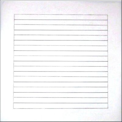 Agnes Martin, 'Untitled VII (from Stedelijk Museum)', 1990