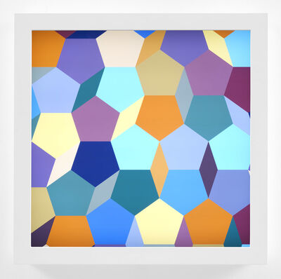 Spencer Finch, 'Moroccan Light, morning effect (Tessellation Study)'