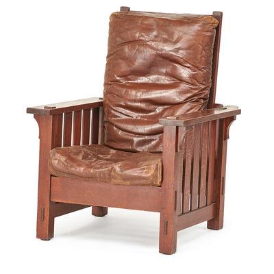 L. & J.G. Stickley, 'Flat-arm Morris chair, Fayetteville, NY', ca. 1902-07