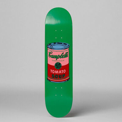 Andy Warhol, 'Colored Campbell's Soup (Blood) Skateboard Deck', 2017