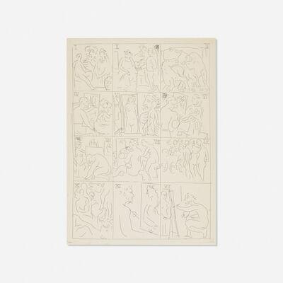 Pablo Picasso, 'Table des Eaux-Fortes from Le Chef d'Oeuvre Inconnu', 1931