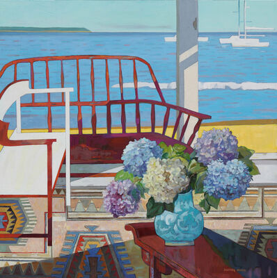 Huang Duo Ling 黄多玲, 'Hydrangeas with Chair ', 2018