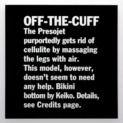 Sylvie Fleury, 'Off-The-Cuff', 1997