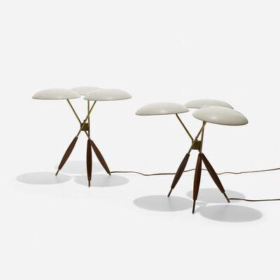 Gerald Thurston, 'table lamps, pair', c. 1955