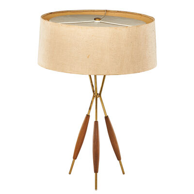 Gerald Thurston, 'Tripod table lamp', ca. 1950