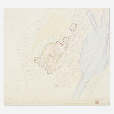 Frank Lloyd Wright, 'Plan for the John L. Rayward House, New Canaan, Connecticut', 1955