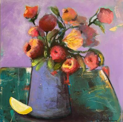 JoAnn Augur, 'Purple Vase with Flowers', 2018