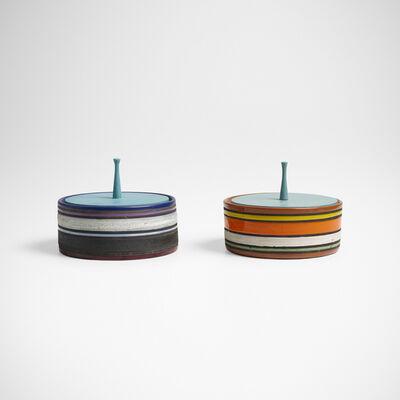 Bitossi, 'lidded boxes, pair', c. 1955