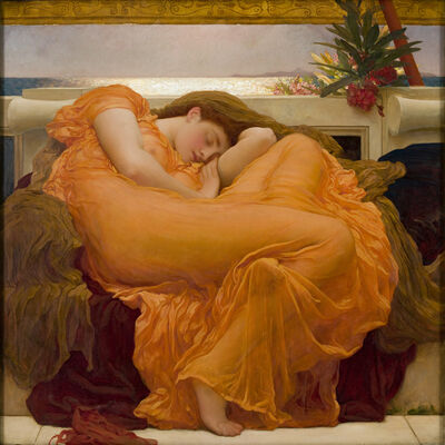 Lord Frederic Leighton, 'Flaming June', ca. 1895
