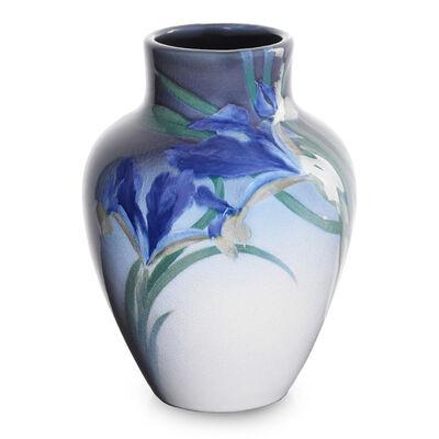 Rookwood Pottery, 'Iris Glaze vase with irises', 1902