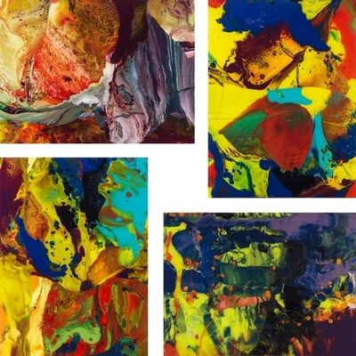 Gerhard Richter, 'P8, P9 P10, P11 (Flow) - Set of 4 prints', 2014