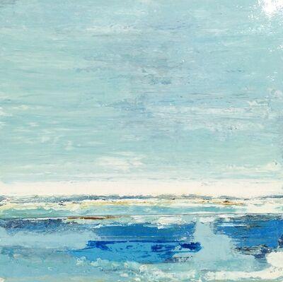 "John Schuyler, '""Strati #71"" abstract blue diptych', 2010-2017"
