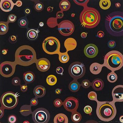 Takashi Murakami, 'Jellyfish Eyes - Black 4', 2007
