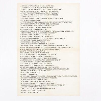 Jenny Holzer, 'Truisms (Toronto)', 1982