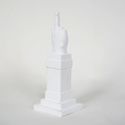 Maurizio Cattelan, 'L.O.V. E. White', 2014