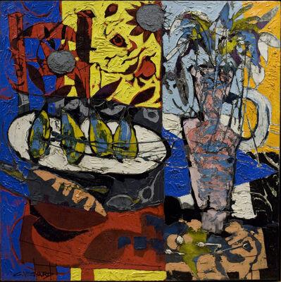 Claude Venard, 'Nature morte a la chaise rouge et au vase (Still-life with Red Chair and Vase)', 1969
