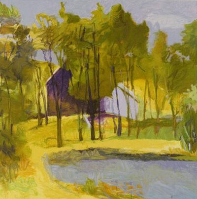 Wolf Kahn, 'Barn Above Pond', 2003