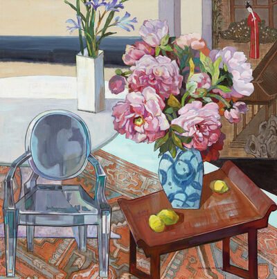 Huang Duo Ling 黄多玲, 'Peonies with Chair ', 2017
