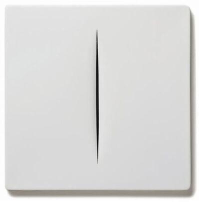 Lucio Fontana, ' Concetto Spaziale (Bianco)', 1968