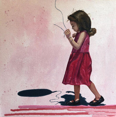 Julian Martinez, 'Steps on Painting'