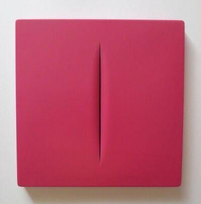 Lucio Fontana, 'Concetto Spaziale Rosso', 1968