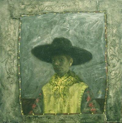 Olga Antonova, 'Self Portrait with Black Hat'
