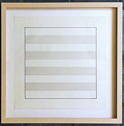 Agnes Martin, 'UNTITLED X Lithograph on Vellum, from Stedelijk Museum (Framed)', 1991