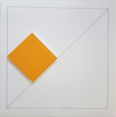 Gottfried Honegger, 'Concrete Geometric Abstract Composition with Orange', 2015