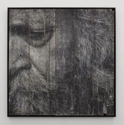 JR, 'The Wrinkles of the City, Los Angeles, John, encre sur bois,', 2011