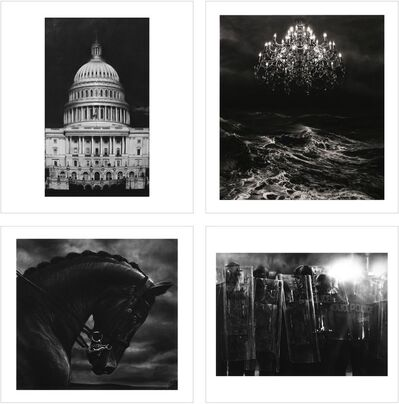 Robert Longo, '1. Untitled (Capitol Detail) 2. Untitled (Throne Room) 3. Untitled (Bucephalus) 4. Untitled (Riot Cops)', 2017