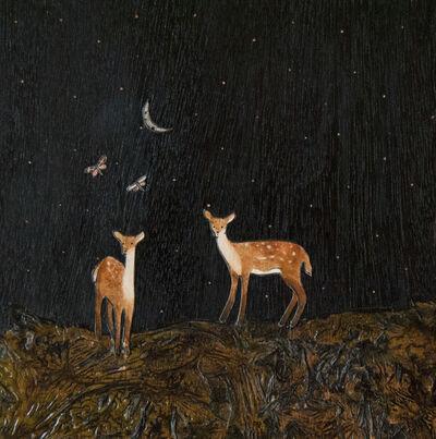 Ashley Anne Clark, 'Deer Couple with Moths', 2018