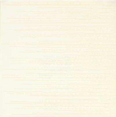 Sol LeWitt, ' Alternate Straight, Broken and Not-Straight Lines from the Left Side', 1972