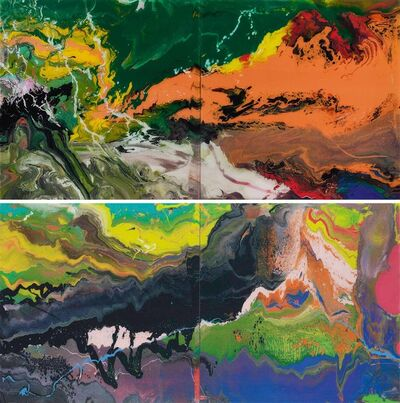 Gerhard Richter, 'Flow (P15), (P16) - Set of two', 2016