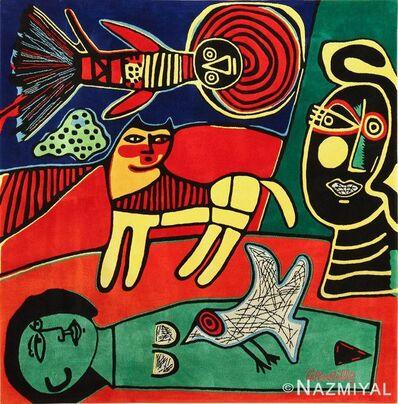 Guillaume Corneille, 'Square Vintage Scandinavian Surrealist Tapestry Rug ', ca. 1950