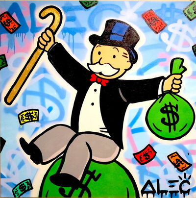 Alec Monopoly, 'Monopoly with $ bag on Money bag'