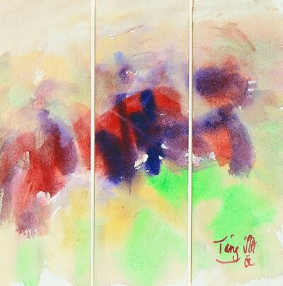 T'ang Haywen 曾海文, 'Untitled No. 6, Triptych', ca. 1980s