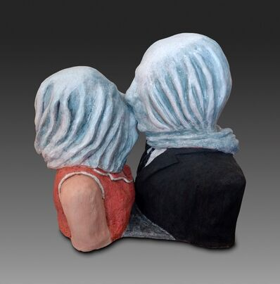 """Sandy Kaplan, 'Magritte's """"The Lovers""""', 2017"""