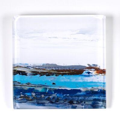 "John Schuyler, '""Vetro 0918-01"" abstract painting behind an acrylic tile', 2018"