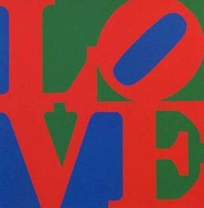 Robert Indiana, 'LOVE (Blue Red Green)', 1996