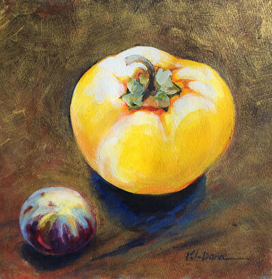 Kathy Dana, 'Pepper & Fig on Gold'